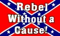 rebel without cause flag sticker 2