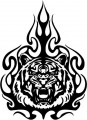 Tribal Tiger Stickers 18