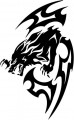 Tribal Wolf Sticker 16