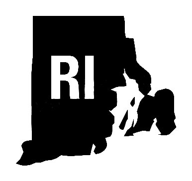 Ri Us State Shape Vinyl Decal Us State Silhouette Decal