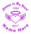 Heart and Wings Circle Memory Decals