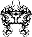 Tribal Wolf Sticker 32