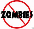 No Zombies Allowed Wall Stickers