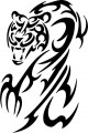 Tribal Tiger Stickers 11