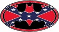 Batman Oval Rebel Flag Sticker