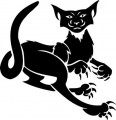 Tribal Cat Sticker Decals 17