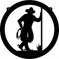 Cowboy Circle Wall Decal