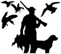 Duck Hunting Vinyl Wall Decal