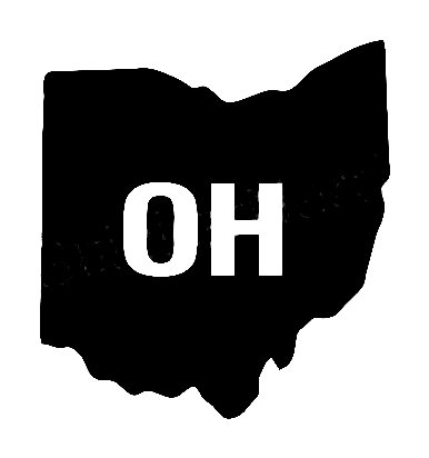 Oh Us State Shape Vinyl Decal Us State Silhouette Decal