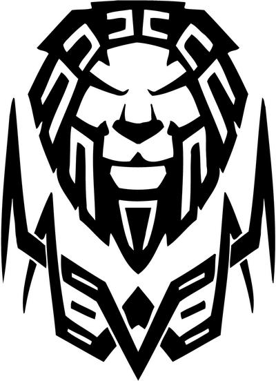 Tribal Lion Stickers 14 Tribal Animals Decal Tribal