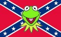 Kermit with Rebel Southern Confederate Flag Sticker