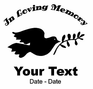 Dove Of Peace Memory Decal Loving Memory Decals Window