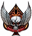 american rebel wings skull spade sticker