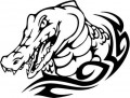Tribal Alligator Decal Stickers 10