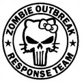 Zombie Outbreak Response Team 3 Diecut Decal