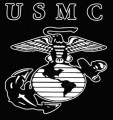 USMC Logo Diecut Decal Sticker