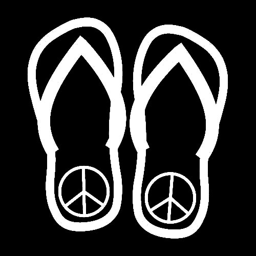 7cf93761044b Flip Flop Decals with Peace Signs - Custom Wall Graphics