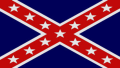 blue rebel flag sticker