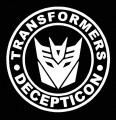 1 BADGE DECAL Diecut Decepticon