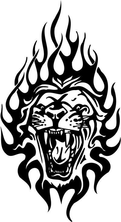 Tribal Lion Stickers 22 Tribal Animals Decal Tribal