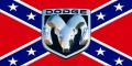 dodge ram rebel flag sticker