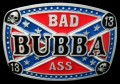 bad bubba ass rebel belt buckle design sticker