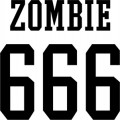 Rob Zombie 666 Logo Wall Decal