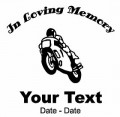 Motorcycle Memory Decal