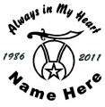 Shriner Circle Memory Decals
