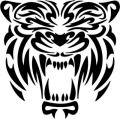Tribal Tiger Stickers 09