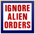 Ignore Alien Orders Color Sticker