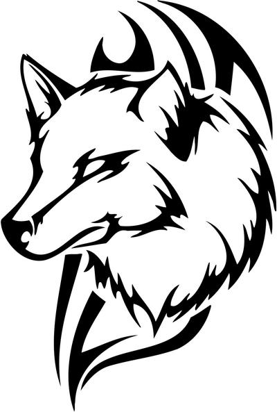 Tribal Wolf Sticker 49 Animals Decal Sticker Car