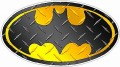 Batman Oval Diamond Plate Wall Sticker