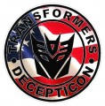 1 BADGE DECALS Flag Fill Decepticon