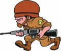 Cartoon Solider Decal Sticker