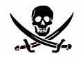Pirate Skull with Swords Decal