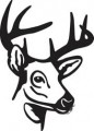 Deer Head Decal 88
