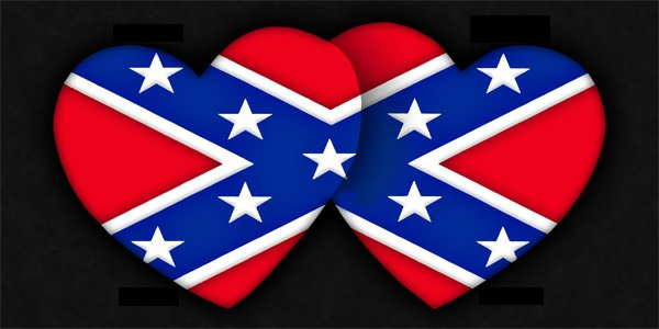 rebel flag heart coloring pages - photo#22