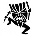 Hawaiian Tiki Dancer Wall Decal