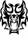 Tribal Wolf Sticker 07