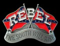 belt buckle design the south will rise rebel sticker