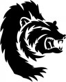 Tribal Bear Sticker Decals 04
