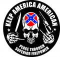 Keep America rebel Circular Sticker