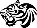 Tribal Tiger Stickers 05