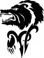 Tribal Bear Sticker Decals 11