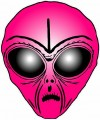Alien Head Sticker 6