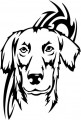 Tribal Wolf Sticker 50