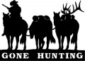 Cowboy Gone Hunting Decal