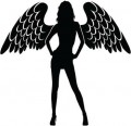 Sexy Lady Angel Decal 2