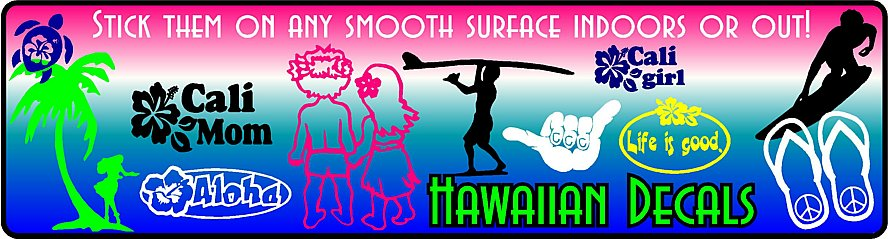Hawaiian Wall Decals
